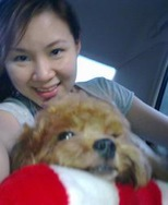 Elaine Lee with Cocoa